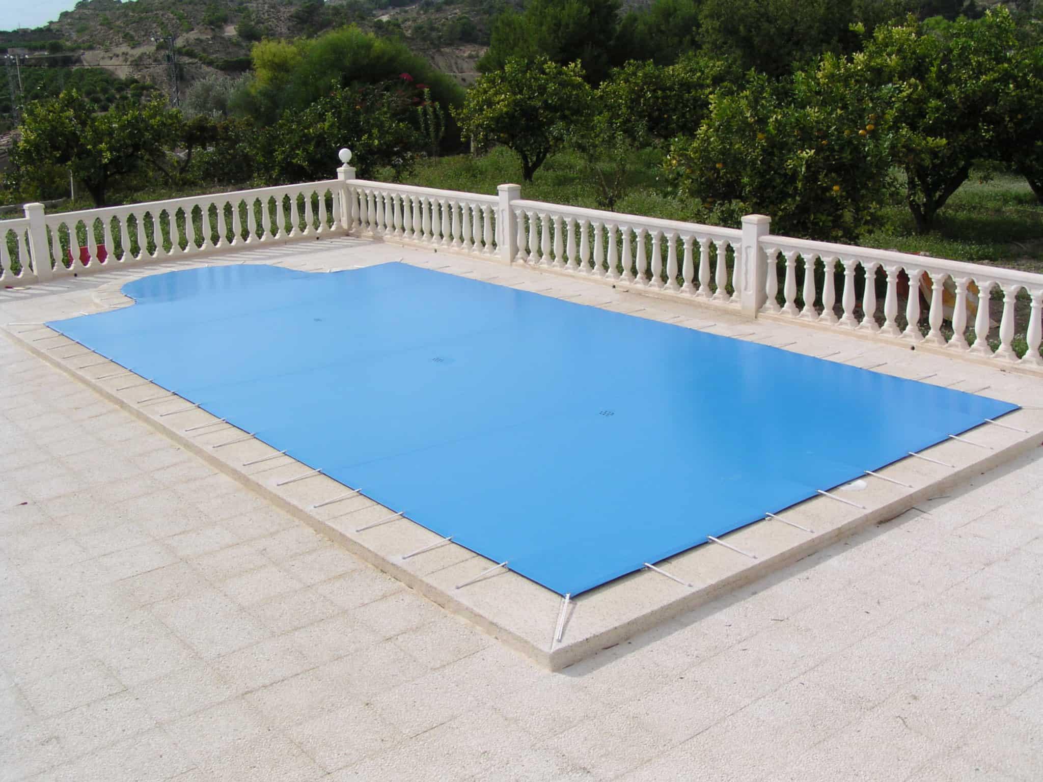 cubierta de piscina lona
